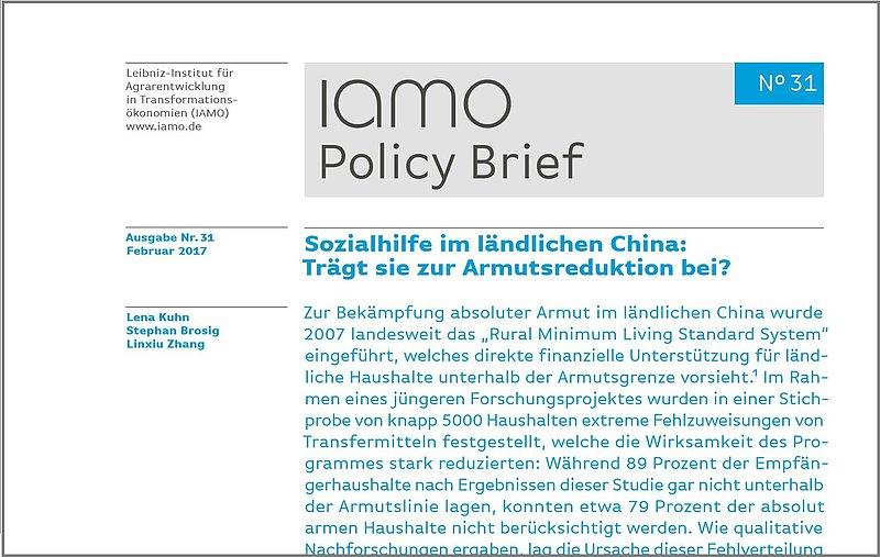 Iamo Policy Brief 31 Herausgegeben Iamo